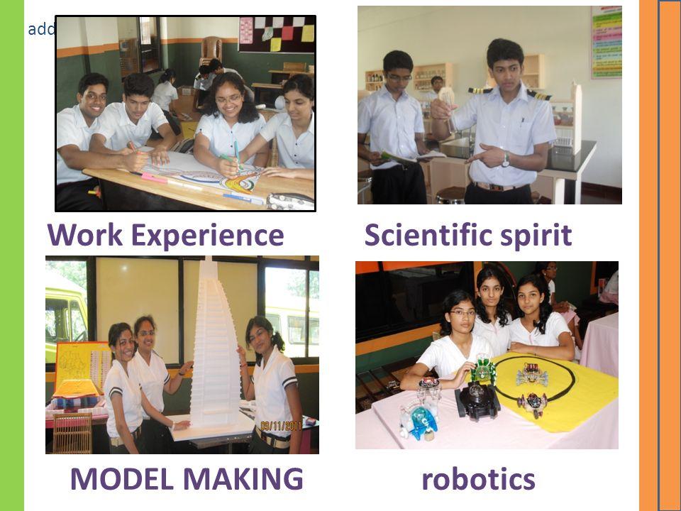 Click icon to add picture Work ExperienceScientific spirit MODEL MAKINGrobotics