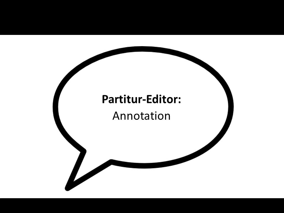Partitur-Editor: Annotation