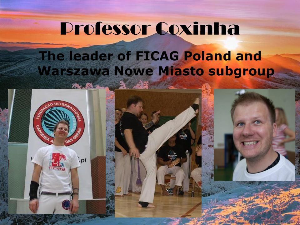 Professor Coxinha The leader of FICAG Poland and Warszawa Nowe Miasto subgroup