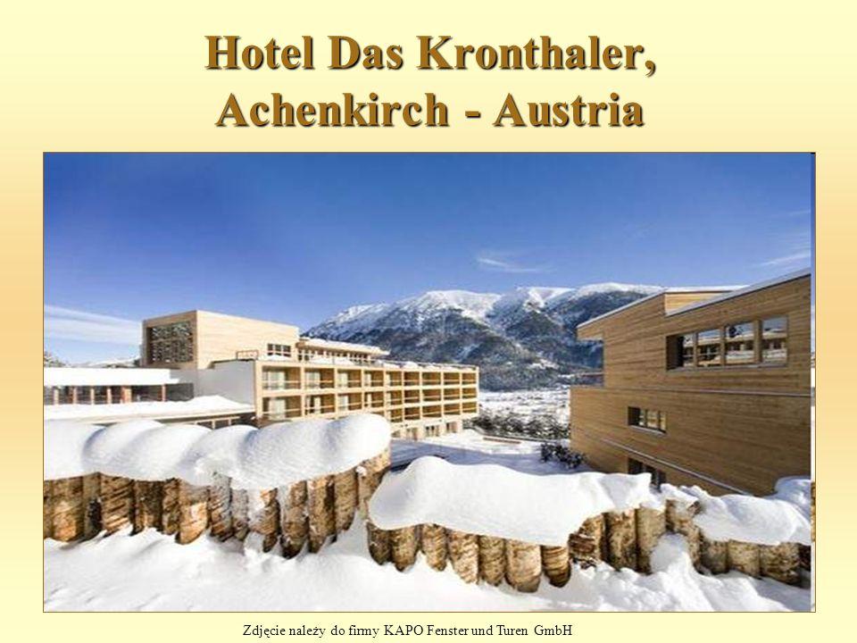 Hotel Das Kronthaler, Achenkirch - Austria Zdjęcie należy do firmy KAPO Fenster und Turen GmbH