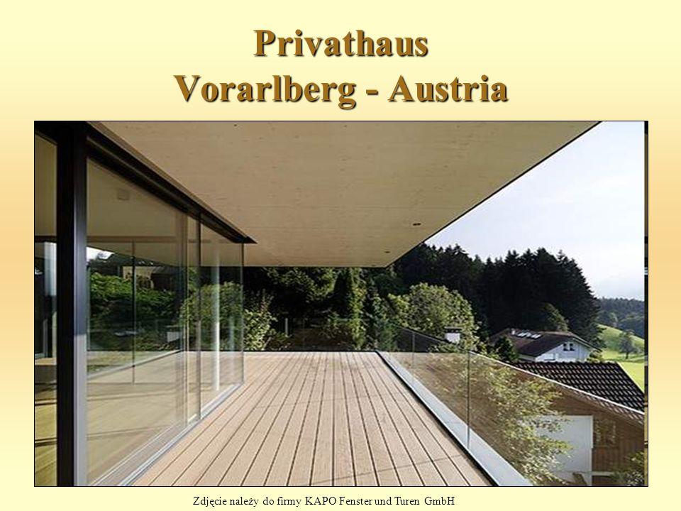 Privathaus Vorarlberg - Austria Zdjęcie należy do firmy KAPO Fenster und Turen GmbH
