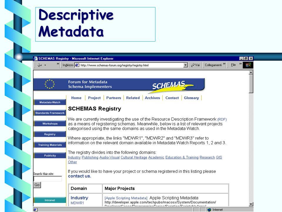 Descriptive Metadata