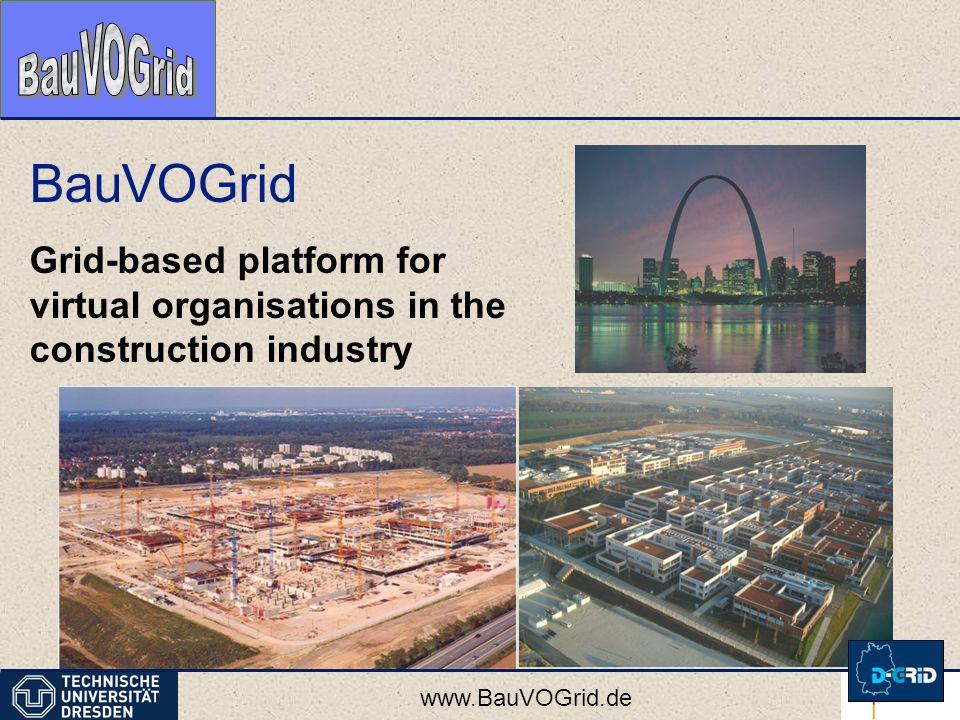 www.BauVOGrid.de BauVOGrid Grid-based platform for virtual organisations in the construction industry