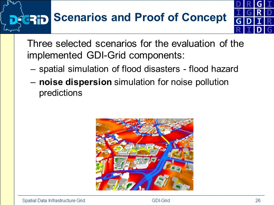 Spatial Data Infrastructure Grid GDI-Grid 26 Scenarios and Proof of Concept Three selected scenarios for the evaluation of the implemented GDI-Grid co