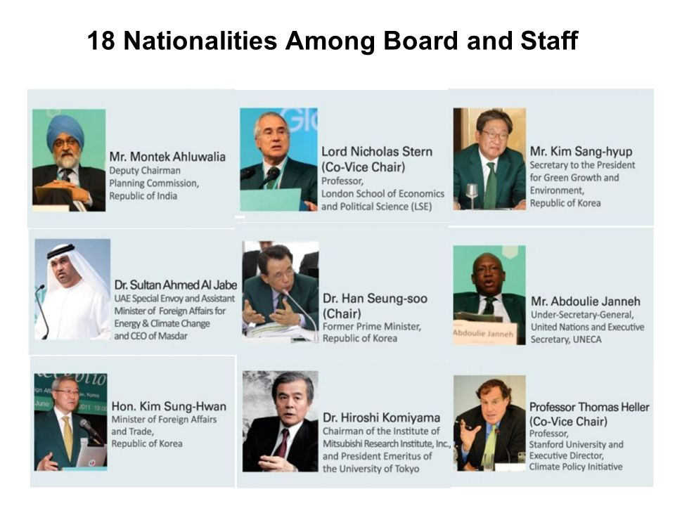 18 Nationalities Among Board and Staff