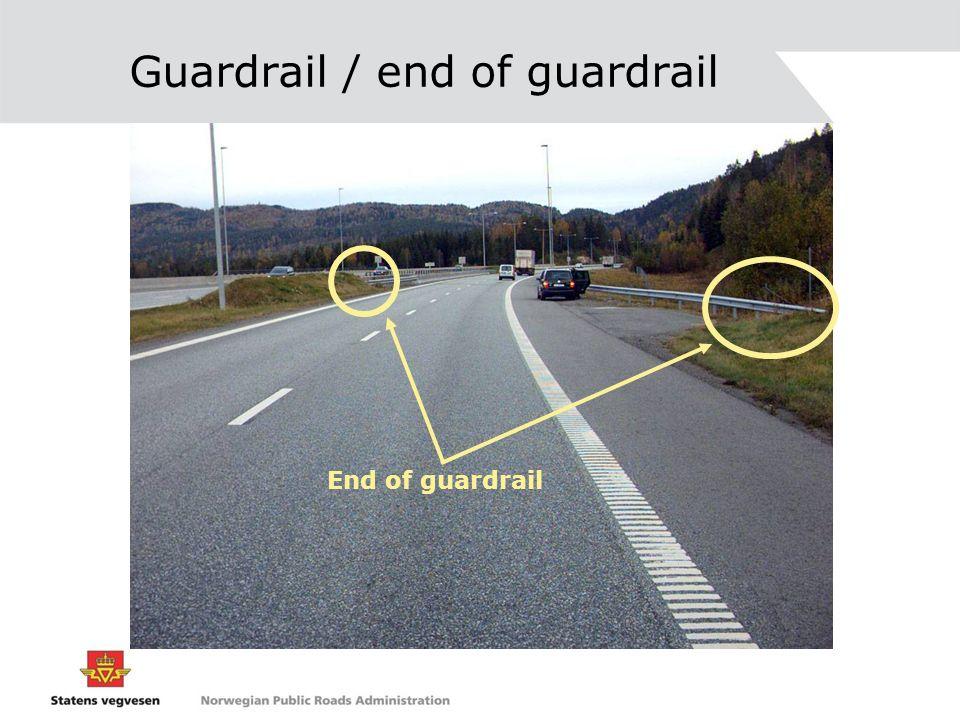 Guardrail / end of guardrail End of guardrail