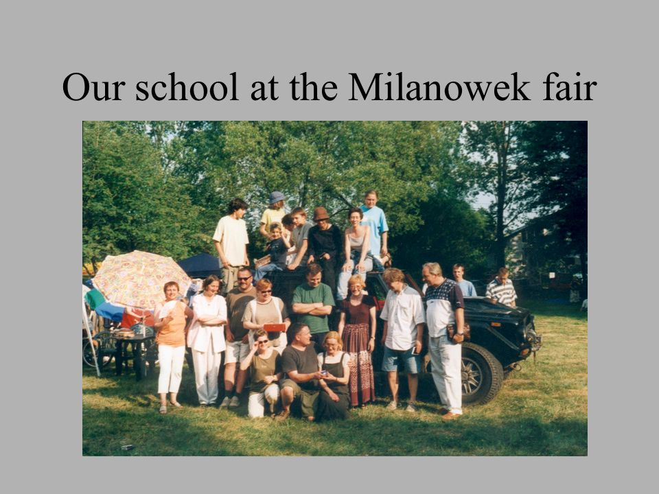 Our school at the Milanowek fair