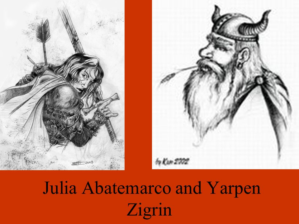 Julia Abatemarco and Yarpen Zigrin