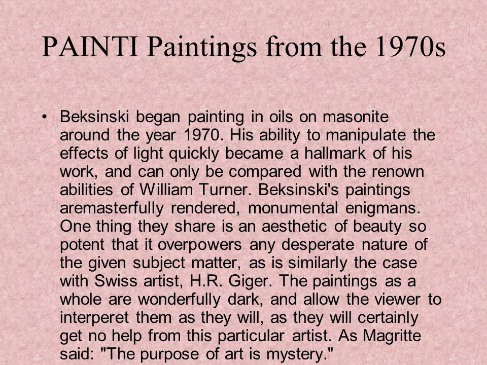 EARLY WORKS AND DRAWING 1965-1968 All painting are untitled.