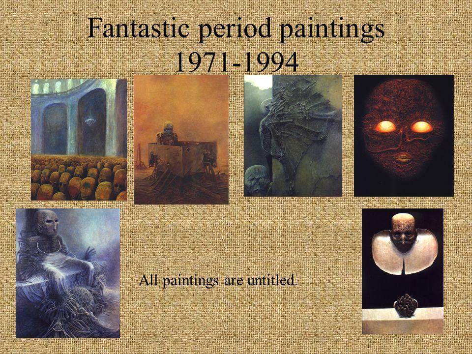 Paintings and Computer Graphics from the 1990s Paintings and Computer Graphics from the 1990s Beksniski s paintings have grown less representational over the years and now seem almost abstract in nature.