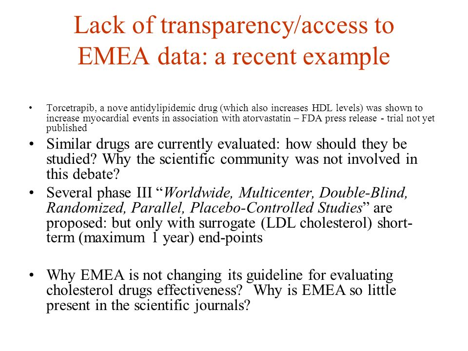 EMEA and … novel torcetrapib New anonymous product EMEA - Scientific Advice Background Package November 2006 Pp 1-224