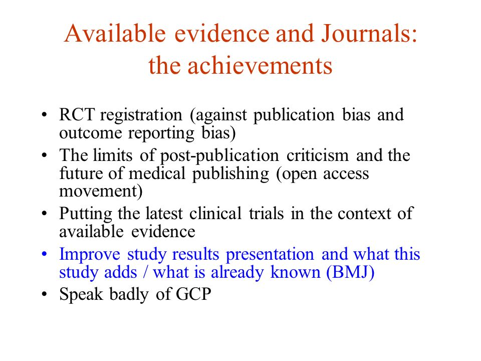 BMJ (slight) improvement of latest trial and previous RCTs