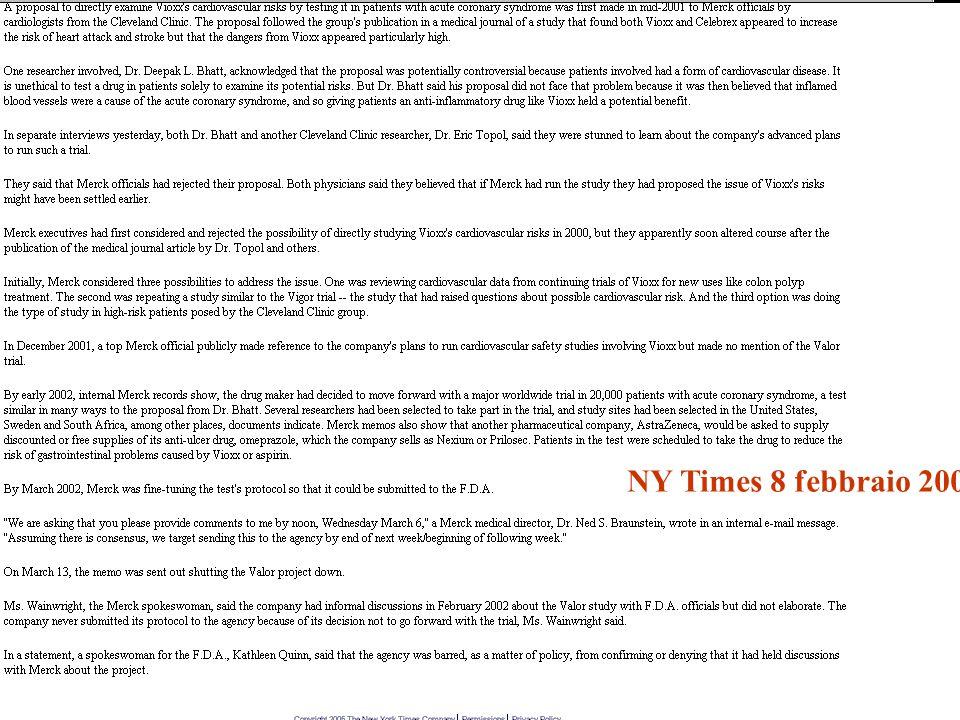 NY Times 8 febbraio 2005