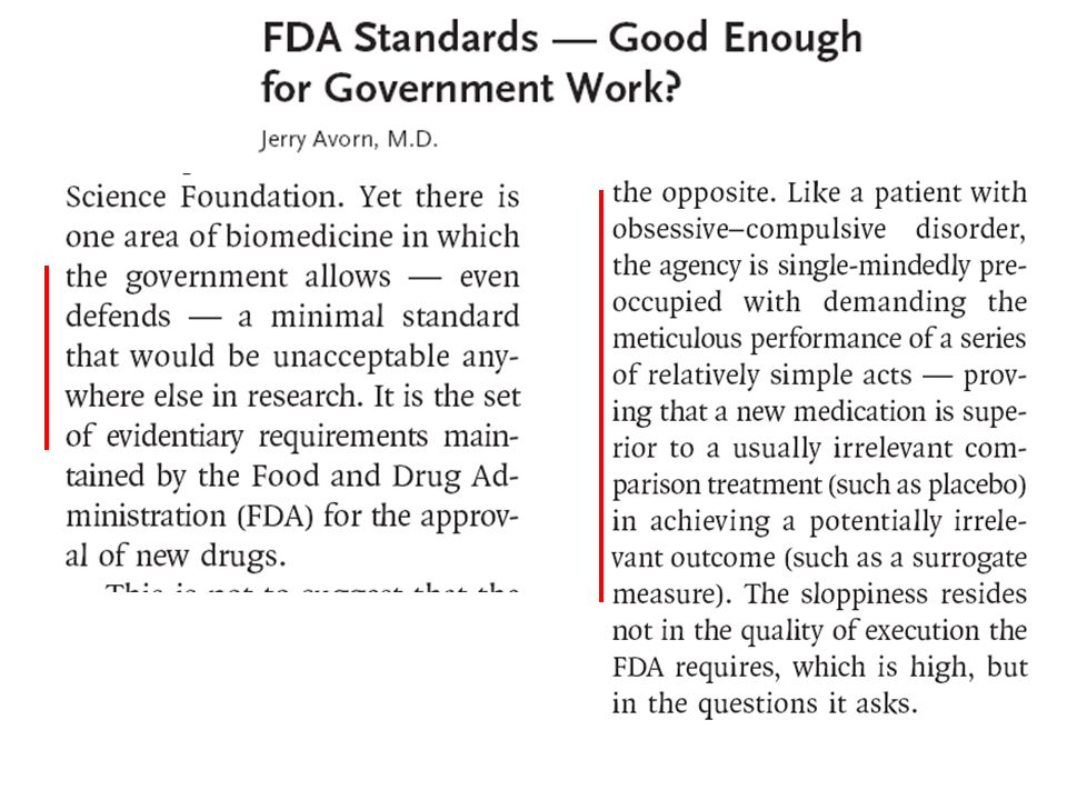 How is FDA faring?