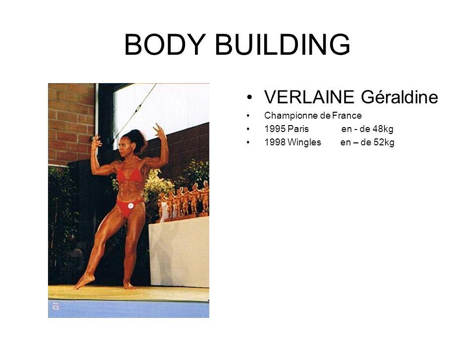 BODY BUILDING Marcel JULIEN Champion de France en – de 65kg 1971 Paris 1985 Perpignan 1986 Dijon 1989 Montpellier 1990 Lyon 1994 Viry Chatillon 1996 Mérignac