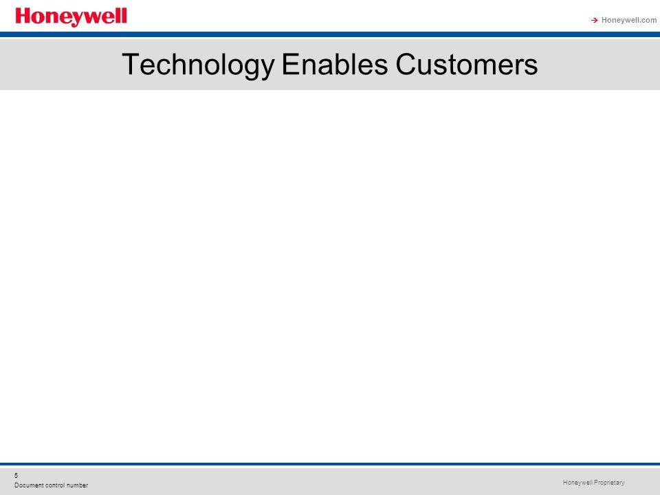 Honeywell Proprietary Honeywell.com 5 Document control number Technology Enables Customers