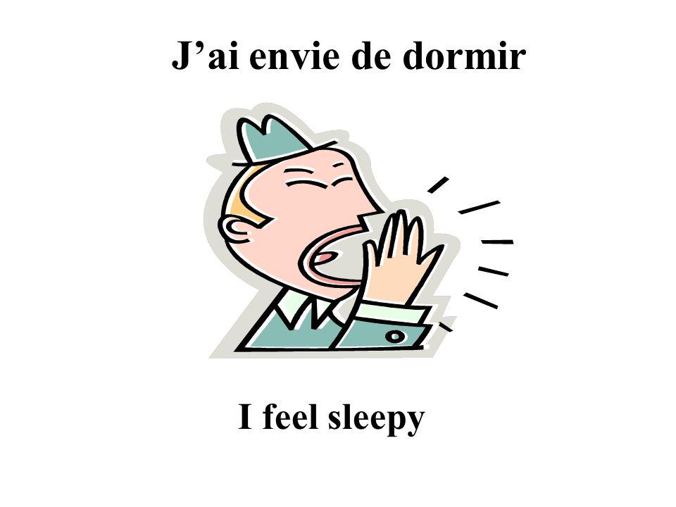 Jai envie de dormir I feel sleepy