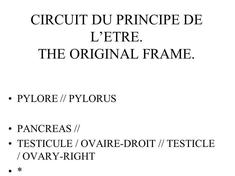 CIRCUIT DU PRINCIPE DE LETRE. THE ORIGINAL FRAME.