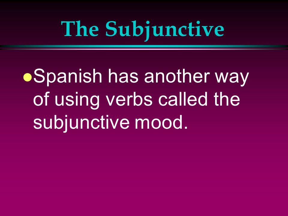 The Subjunctive l Aprendo francés para mi viaje.