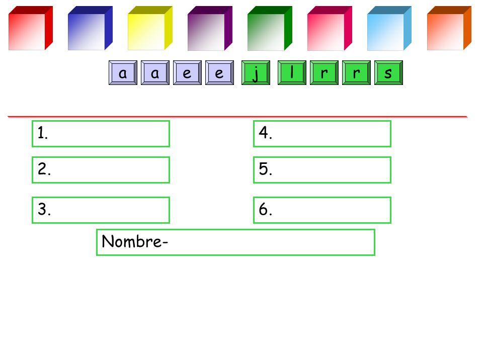 1.4. 2.5. 3.6. Nombre- jlaerares