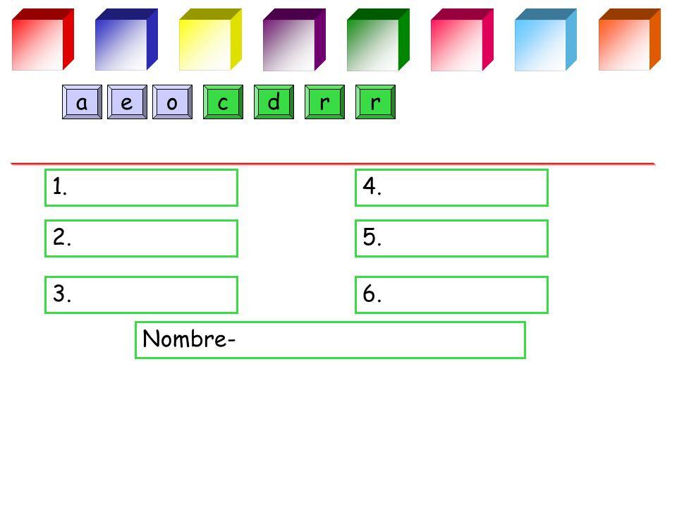 1.4. 2.5. 3.6. Nombre- drcoaer