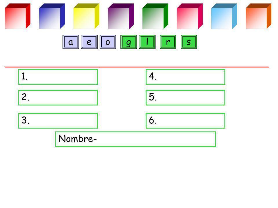 1.4. 2.5. 3.6. Nombre- greoals