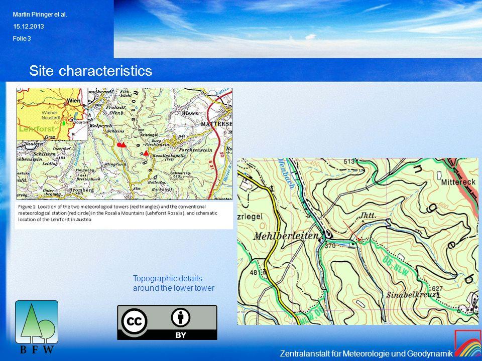 Zentralanstalt für Meteorologie und Geodynamik Site characteristics 15.12.2013 Martin Piringer et al. Folie 3 Topographic details around the lower tow