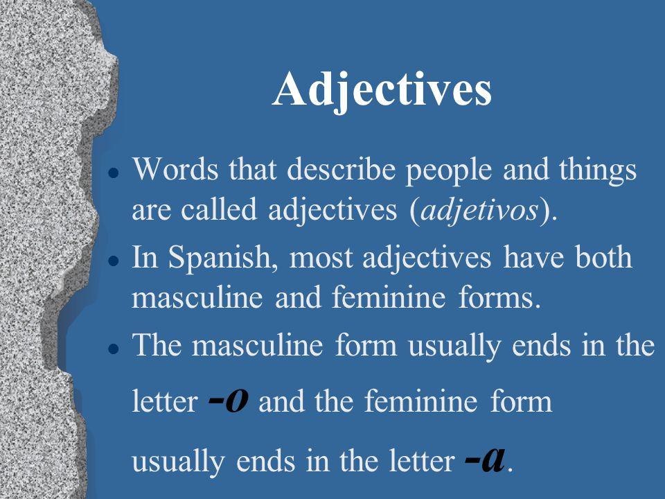Adjectives P. 55 Realidades 1
