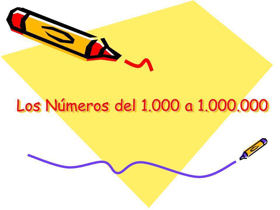 Los Números del 1.000 a 1.000.000