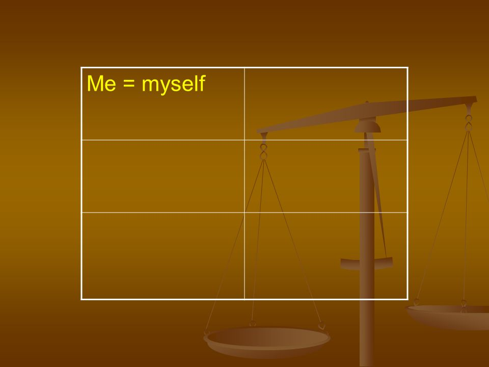 Me = myself