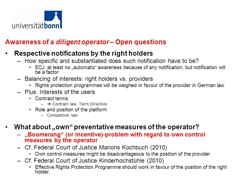 ECJ Case C-324/09 L´Oréal v ebay Injunctions, in particular prevention of future (comparable) infringements –Art.