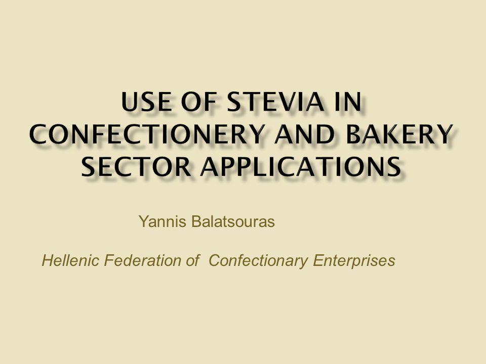 Yannis Balatsouras Hellenic Federation of Confectionary Enterprises