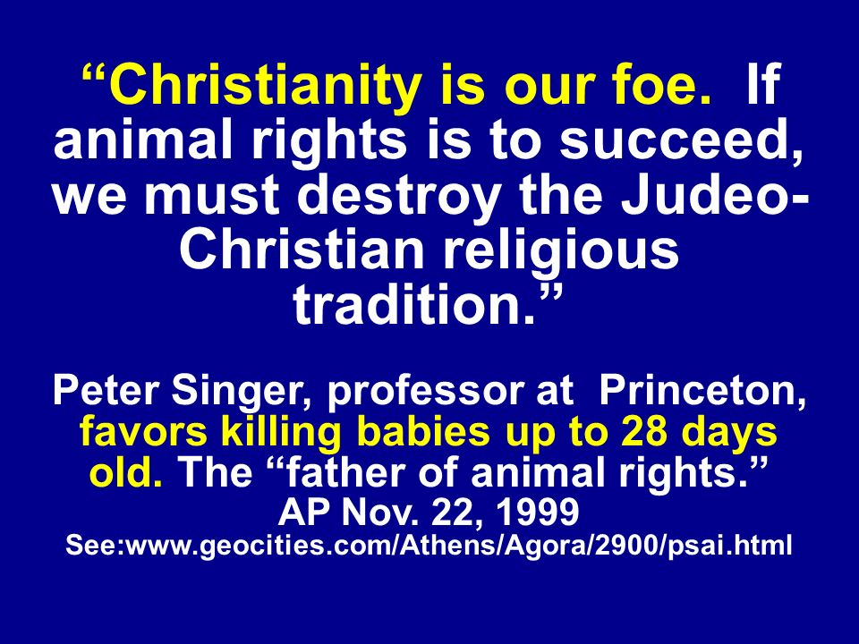 Christianity is our foe.