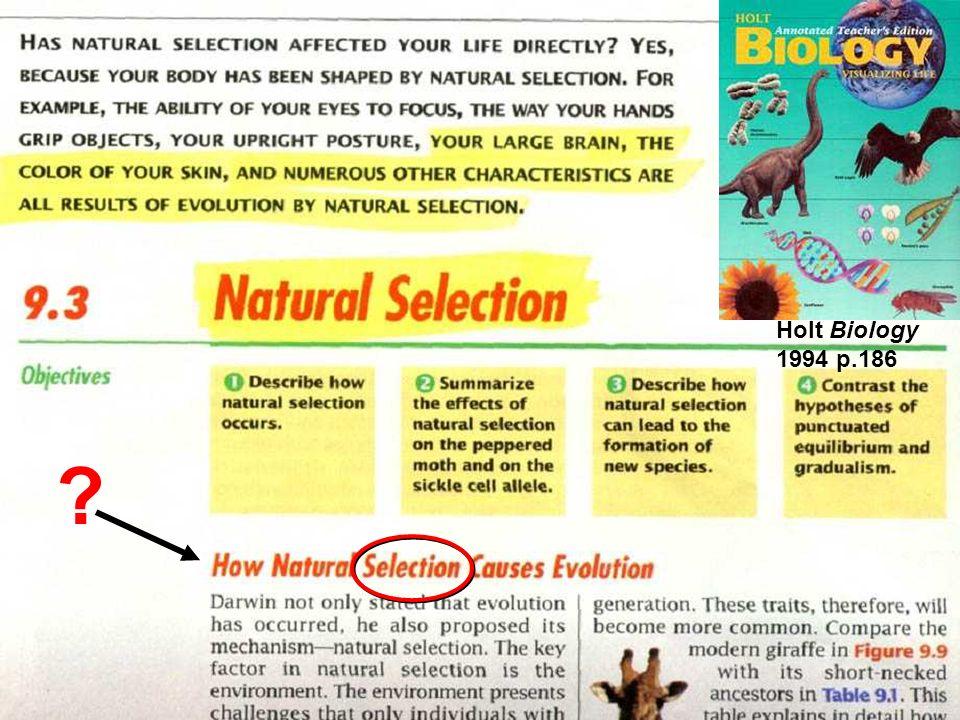 next page textbook shot Holt Biology 1994 p.186
