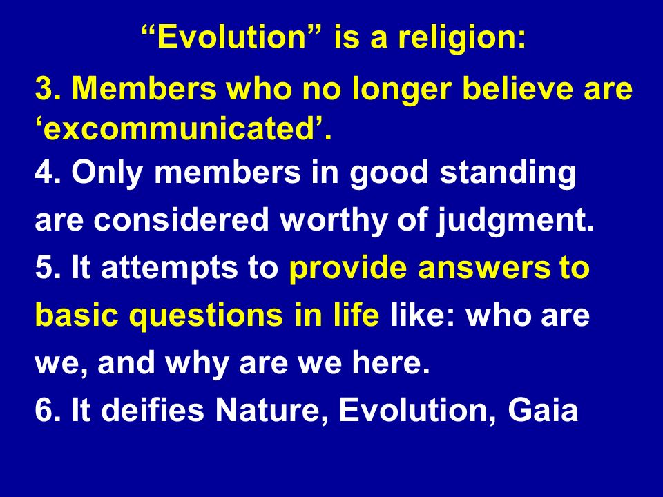 3. Members who no longer believe are excommunicated.