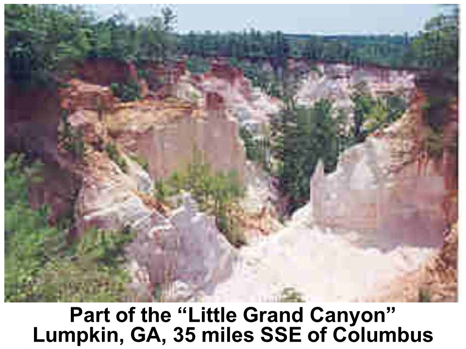 Part of the Little Grand Canyon Lumpkin, GA, 35 miles SSE of Columbus