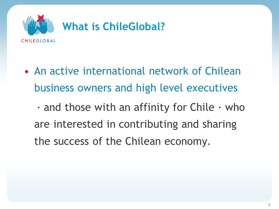 7 What is ChileGlobal.