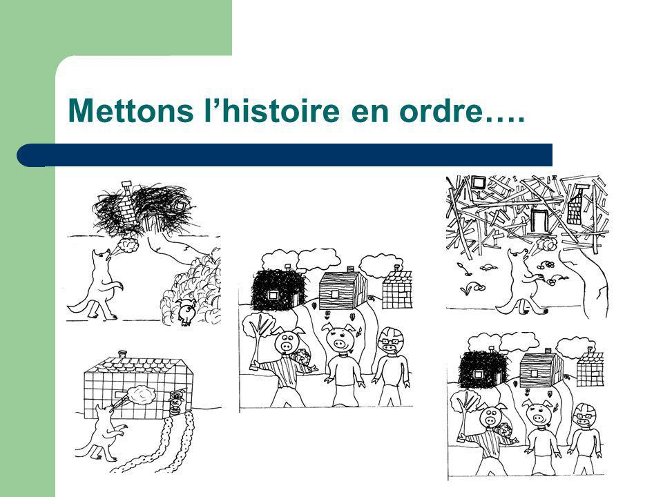 Mettons lhistoire en ordre….