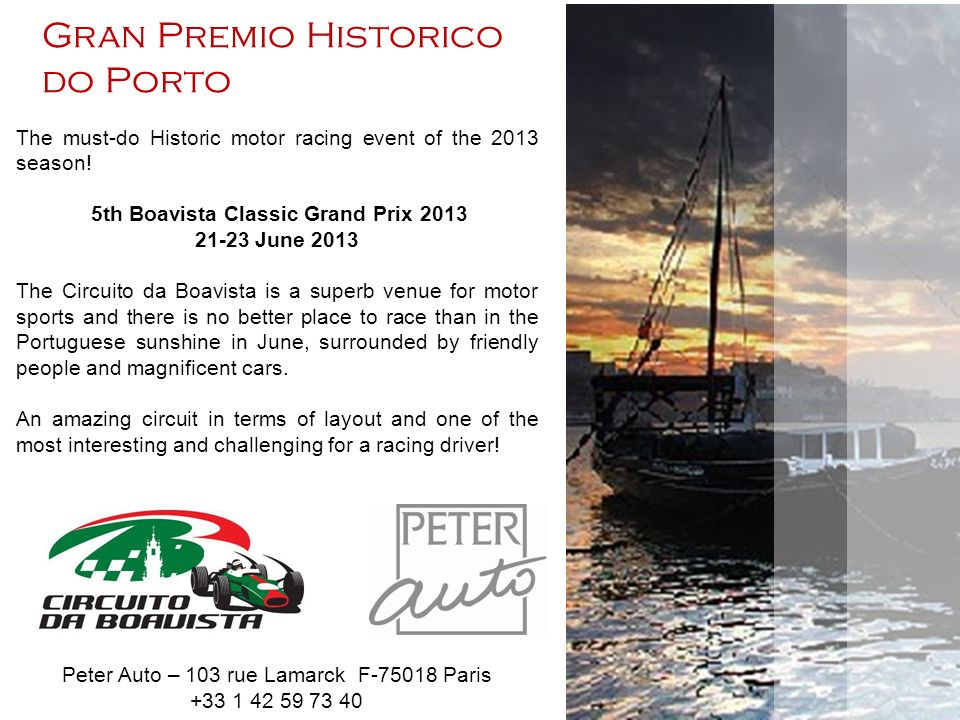 The must-do Historic motor racing event of the 2013 season.