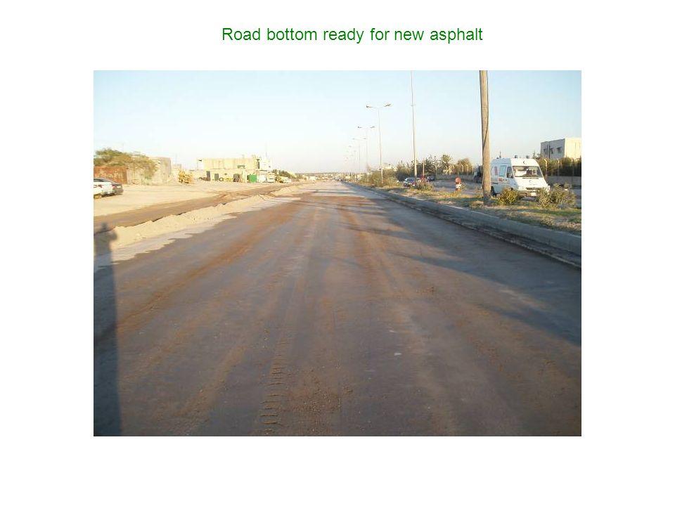 Road bottom ready for new asphalt