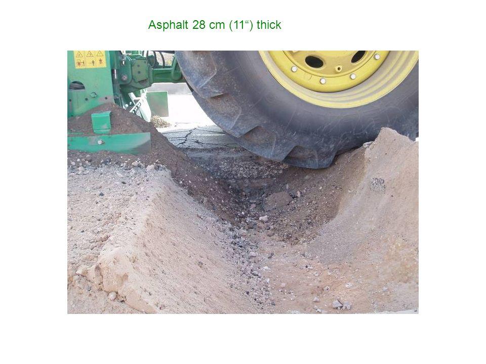 Asphalt 28 cm (11) thick