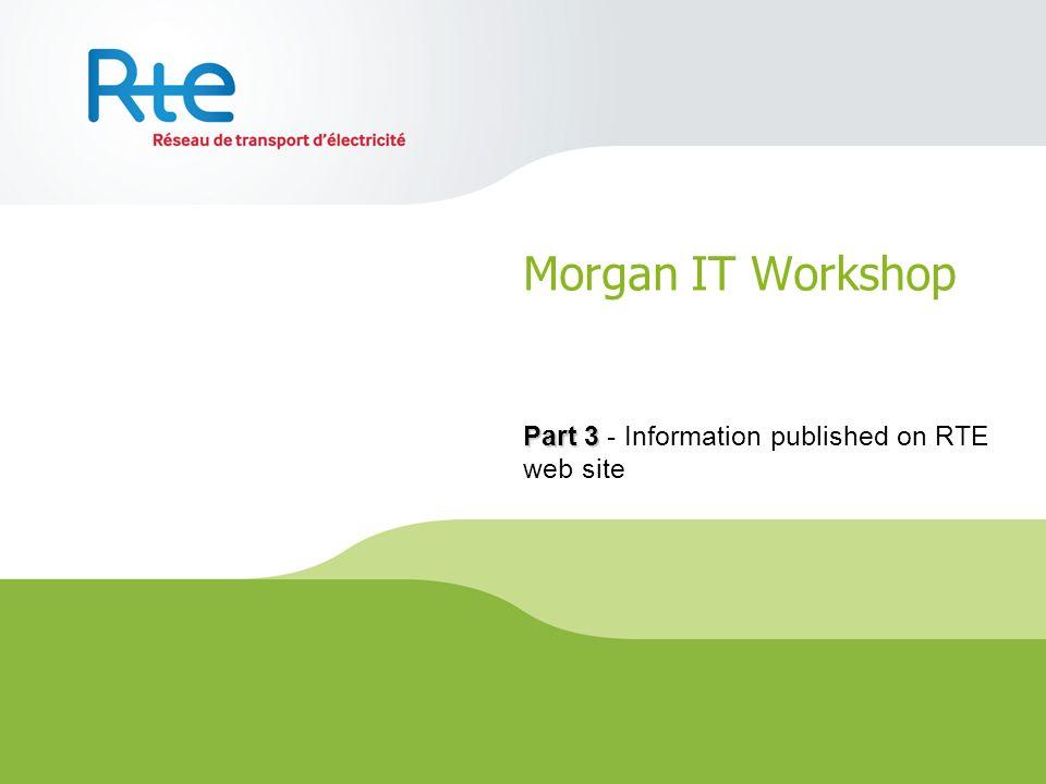 Morgan IT Workshop Part 3 Part 3 - Information published on RTE web site