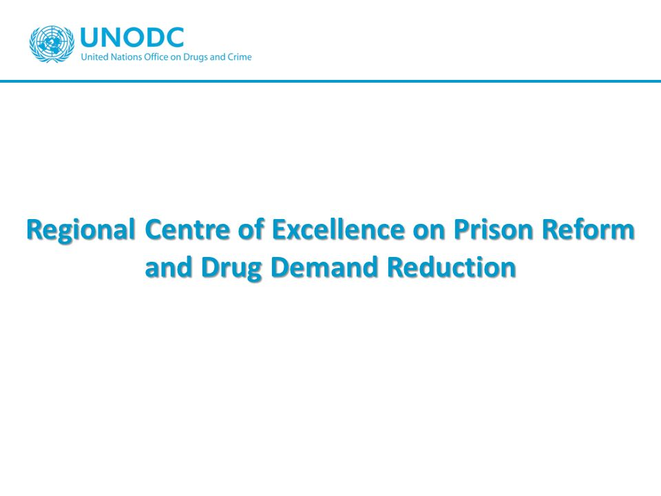 Regional Centre of Excellence on Prison Reform and Drug Demand Reduction