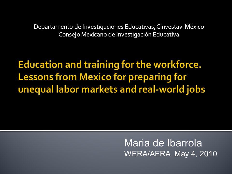 1989.Mexico into the XXIst Century NAFTA / OCDE The Modernization of Mexican education.