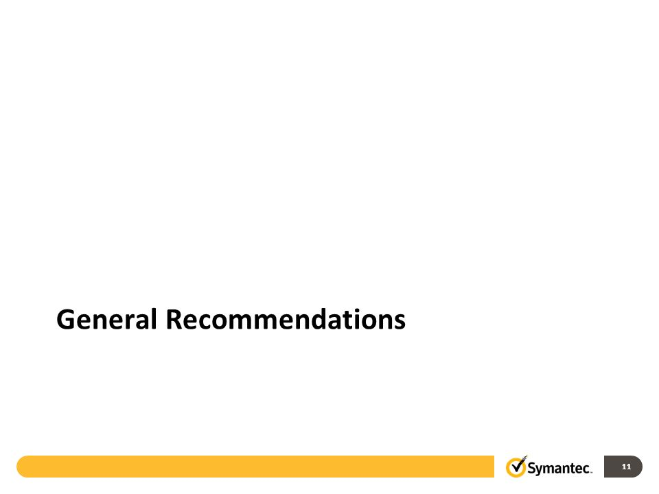 11 General Recommendations