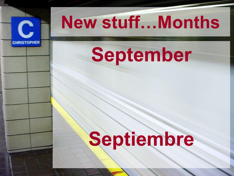 September Septiembre