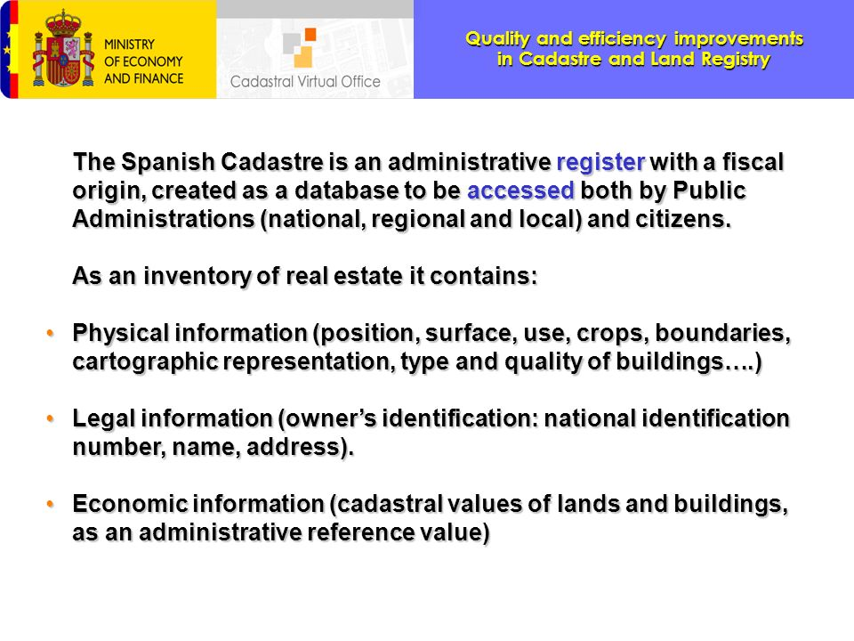 Picking a position in the rural cadastral cartography You can get the information associated to a rural property