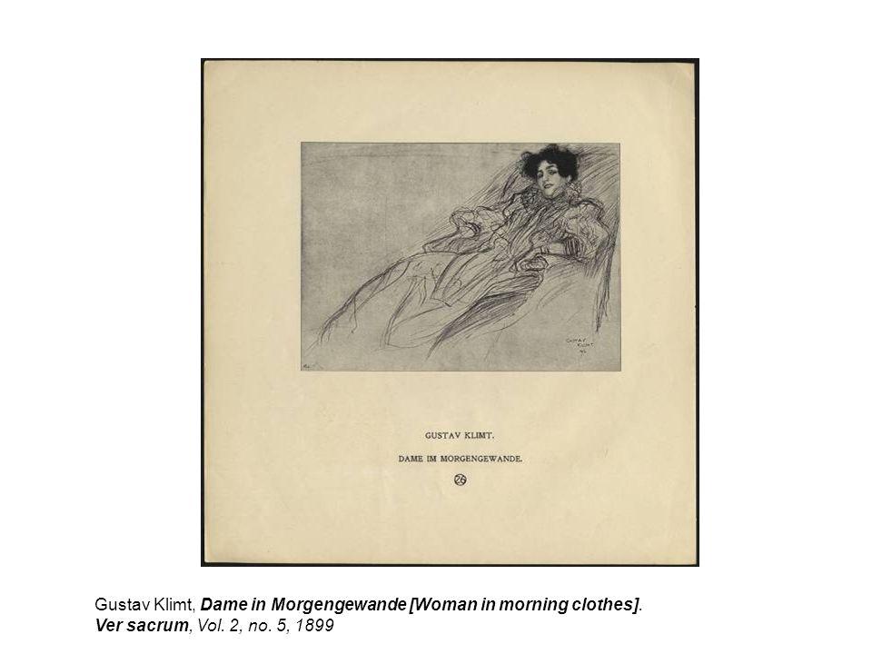 Gustav Klimt, Dame in Morgengewande [Woman in morning clothes]. Ver sacrum, Vol. 2, no. 5, 1899