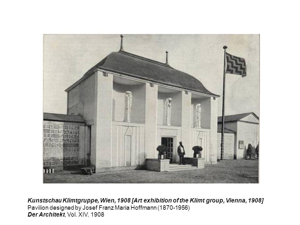 Kunstschau Klimtgruppe, Wien, 1908 [Art exhibition of the Klimt group, Vienna, 1908] Pavilion designed by Josef Franz Maria Hoffmann (1870-1956) Der A