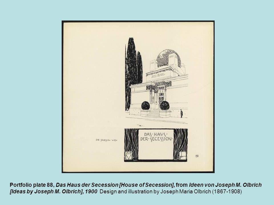 Portfolio plate 88, Das Haus der Secession [House of Secession], from Ideen von Joseph M. Olbrich [Ideas by Joseph M. Olbrich], 1900 Design and illust